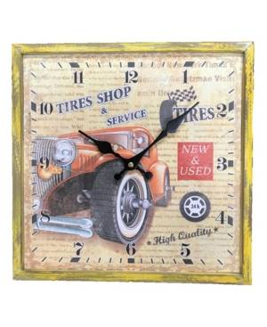 Creative Labs Motion Clock with Car Design with High Quality Wood Frame  - Multi