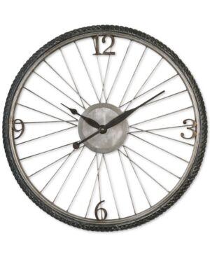 Uttermost Spokes Clock  - Silver Champagne