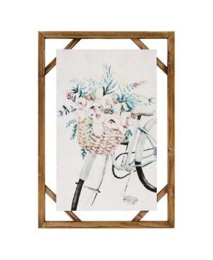 "Stratton Home Decor Decorative Shabby Chic Bike Wall Art, 16"" x 23""  - Multi"