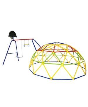 Skywalker Trampolines Skywalker Sports Geo Dome Climber with Swing Set