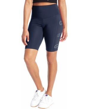 Champion Women's Double Dry Bike Shorts  - Athletic Navy