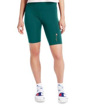 Champion Women's High-Rise Bike Shorts  - Gem Jade