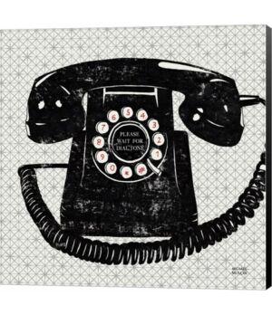 Metaverse Vintage Analog Phone by Michael Mullan Canvas Art  - Multi