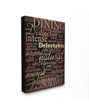 """Stupell Industries Home Decor Dining Words Black Kitchen Canvas Wall Art, 30"""" x 40""""  - Multi"""