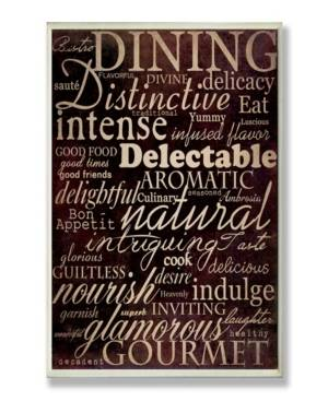 """Stupell Industries Home Decor Dining Words Black Kitchen Wall Plaque Art, 12.5"""" x 18.5""""  - Multi"""