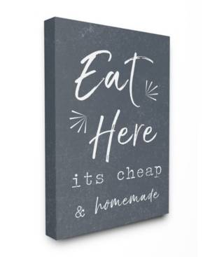 """Stupell Industries Eat Here Home Cooking Navy Canvas Wall Art, 24"""" x 30""""  - Multi"""