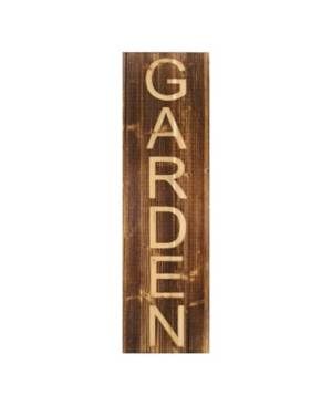 Stratton Home Decor Wood Garden Panel Wall Decor  - Brown