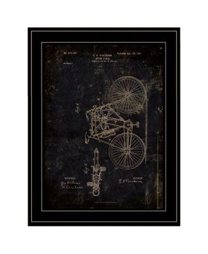 "Trendy Decor 4U Motor Bike Patent by Cloverfield Co, Ready to hang Framed Print, Black Frame, 15"" x 19""  - Multi"