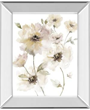 "Classy Art Translucent Garden I by Nan Mirror Framed Print Wall Art, 22"" x 26""  - White"