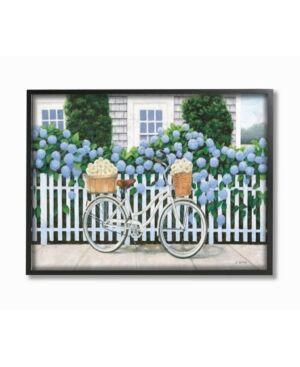 "Stupell Industries Cape Cod Daisy Bike Framed Giclee Art, 11"" x 14""  - Multi"