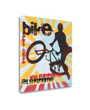 """Tangletown Fine Art Bike by Jo Moulton Giclee Print on Gallery Wrap Canvas, 20"""" x 20""""  - Multi"""