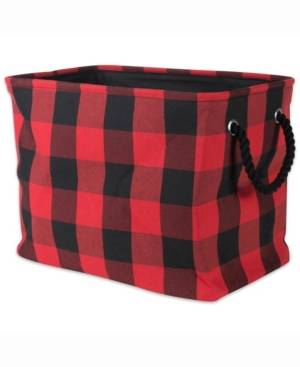 Design Imports Design Import Storage Bin Buffalo Check, Rectangle  - Red