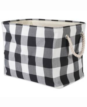 Design Imports Storage Bin Buffalo Check, Rectangle  - Black