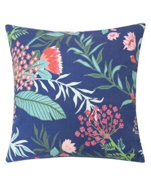 Homey Cozy Tropical Garden Outdoor Pillow  - Blue