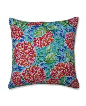 "Pillow Perfect Garden Blooms 25"" Outdoor Floor Pillow  - Pink"