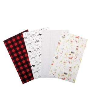 Trend Lab Buffalo Check Woodland Flannel Burp Cloth 4-Pack Bedding  - Multi