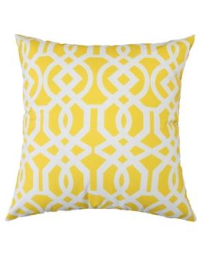 Homey Cozy Crystal Garden Outdoor Pillow  - Yellow