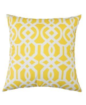 Homey Cozy Crystal Garden Outdoor Pillow  - Yellow