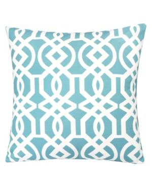 Homey Cozy Crystal Garden Outdoor Pillow  - Seafoam