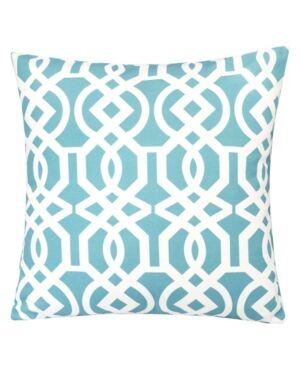 Homey Cozy Crystal Garden Outdoor Pillow  - Seafoam