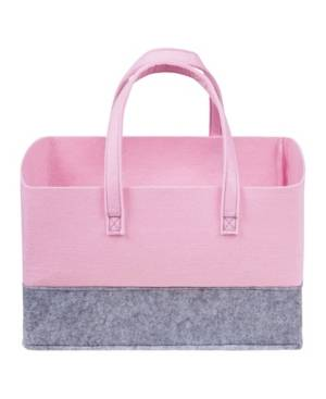 Trend Lab Sammy and Lou Essential Felt Storage Tote Bedding  - Pastel Pink