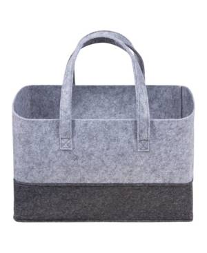 Trend Lab Sammy and Lou Essential Felt Storage Tote Bedding  - Light Gray