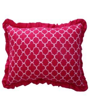 """Waverly Kids Reverie Quatrefoil Decorative Accessory Pillow, 12"""" x 18"""" Bedding  - Pink"""