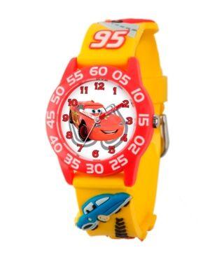 Ewatchfactory Disney Cars Boys' 3D Red Plastic Time Teacher Watch  - Red