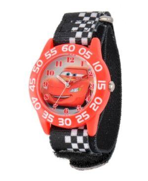 Ewatchfactory Disney Cars Boys' Red Plastic Time Teacher Watch  - Black