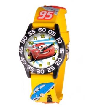 Ewatchfactory Disney Cars Boys' 3D Black Plastic Time Teacher Watch  - Black