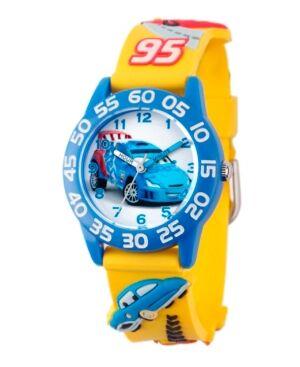 Ewatchfactory Disney Cars Boys' 3D Blue Plastic Time Teacher Watch  - Blue