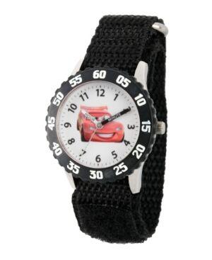 Ewatchfactory Disney Cars Lightning McQueen Boys' Stainless Steel Time Teacher Watch  - Black