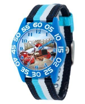 Ewatchfactory Disney Cars Boys' Blue Plastic Time Teacher Watch  - Multi