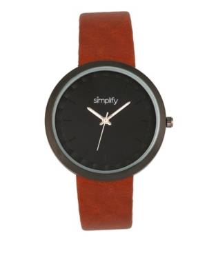 Simplify Quartz The 6000 Light Brown Leatherette Watch 43mm  - Light Brow