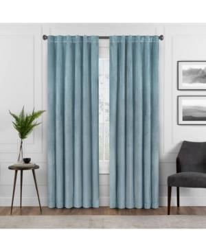 Eclipse Absolute Zero Velvet-Texture Blackout Home Theater Curtain Panel 50 x 63  - Blue