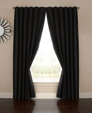 Eclipse Absolute Zero Velvet-Texture Blackout Home Theater Curtain Panel 50 x 63  - Black