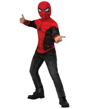 BuySeasons Spider-Man: Far From Home Big Boy Top Costume  - Red