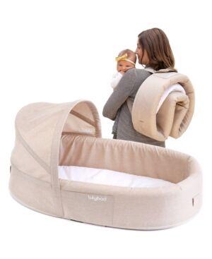 Lulyboo Bassinet To-Go Baby Travel Bed  - Khaki