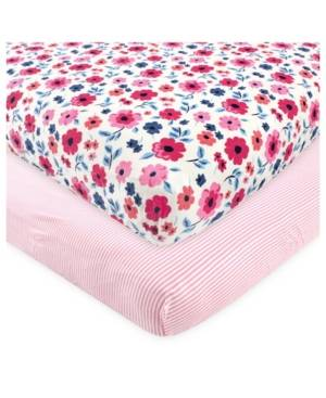 Touched by Nature Baby Girls and Boys Garden Floral Crib Sheet  - Pink
