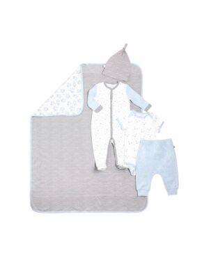 Snugabye Gertex Snugabye Dream Infant Girls 5 Piece Take Me Home Set  - Blue Gray