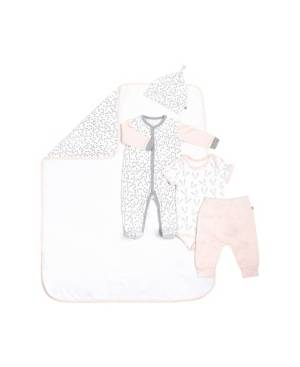 Snugabye Gertex Snugabye Dream Infant Girls 5 Piece Take Me Home Set  - Pink Gray