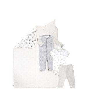 Snugabye Gertex Snugabye Dream Infant Girls 5 Piece Take Me Home Set  - Beige Grey