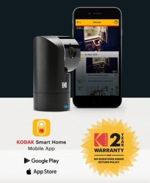 Kodak Cherish F685 Home Security Camera With Mobile App - Full-Hd Wireless Security Camera System With Infrared Night-Vision, Battery, Tilt, Pan, Zoom & 120Deg View  - No Color
