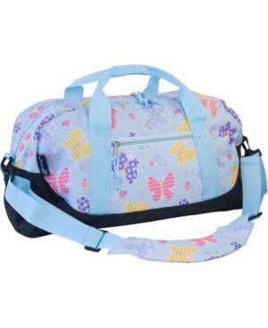 Wildkin Butterfly Garden Overnighter Duffel Bag  - Blue