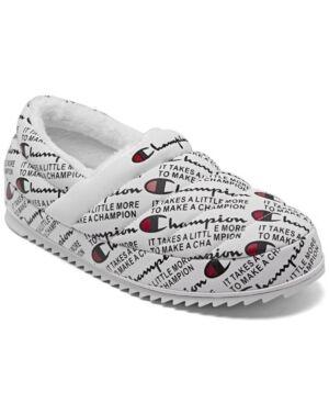 Champion Men's Varsity Reflective Slippers from Finish Line  - White, Black