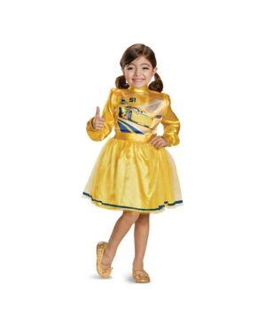 Buyseasons Cars 3 Cruz Deluxe Little and Big Girls Costume  - Yellow