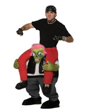 Buyseasons BuySeason Men's Biker Zombie Ride-On Costume  - Black