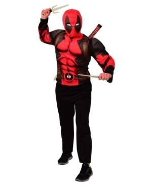 Buyseasons Deadpool Costume Top & Weapon Little and Big Boys Backpack Kit Accessory  - Assorted