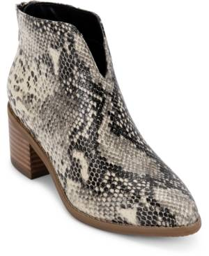 Aqua College Emily Waterproof Booties, Created for Macy's Women's Shoes  - Natural Snake