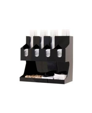 Mind Reader Coffee Condiment and Accessories Caddy Organizer, for Coffee Cups, Stirrers, Snacks, Sugars, etc.  - Black